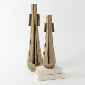 Bronze Tear Drop Vases
