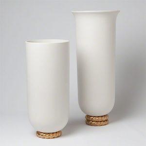Golden Ceramic Rope Vases