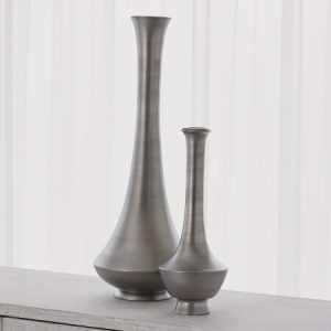 Athos and Edo Vases (Matte Platinum)
